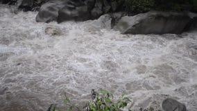 Urubamba-Flussfluß stock footage