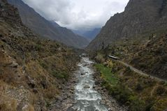 Urubamba river Royalty Free Stock Photography