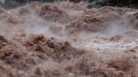 Urubamba River. In full flood, near Aqua Calientes, and running below Machu Picchu stock video footage
