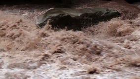 Urubamba River. In full flood, near Aqua Calientes, and running below Machu Picchu stock video