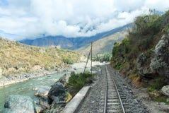 Urubamba river near Machu Picchu (Peru) Stock Photos