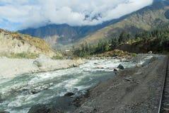 Urubamba river near Machu Picchu (Peru) Stock Image