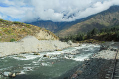 Urubamba river near Machu Picchu (Peru) Stock Photo