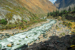 Urubamba river near Machu Picchu (Peru) Royalty Free Stock Photography