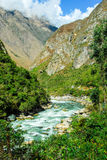 Urubamba river near Machu Picchu (Peru) Royalty Free Stock Photo
