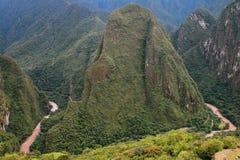 Urubamba River near Machu Picchu in Peru Stock Photo