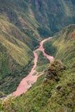 Urubamba River near Machu Picchu in Peru Stock Images