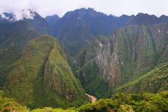 Urubamba River valley near Machu Picchu in Peru Royalty Free Stock Photography
