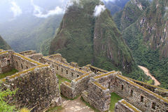 Urubamba valley  from  Machu Picchu Stock Photos