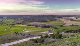 Urueña fields at sunset Stock Image