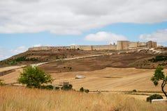Urueña. Panoramic view of the walled town of Urueña. Spain Stock Photos