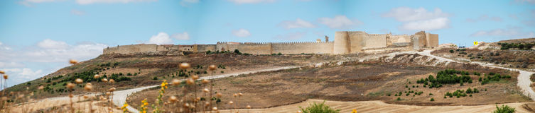 Urueña. Panoramic view of the walled town of Urueña. Spain Royalty Free Stock Photo