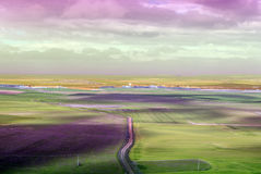 Urueña fields at sunset Royalty Free Stock Photos