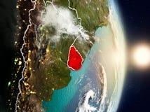 Uruguai durante o nascer do sol Imagem de Stock