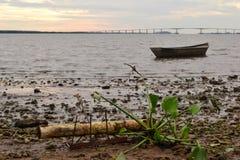 UruguayÂ的河海岸 免版税图库摄影