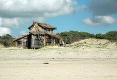 Uruguay. Isolated beach with small house in Uruguay Royalty Free Stock Photography