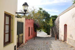 Uruguay. Street in Colonia, Uruguay. An Unesco World Heritage site Stock Photography