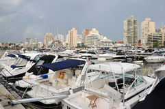 Uruguay. Yachts in the marina of Punta del Este, Uruguay Royalty Free Stock Photo