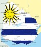 Uruguay vector illustratie