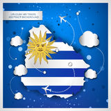 Uruguay air travel abstract background Royalty Free Stock Photography