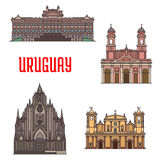 Uruguay-Architekturtouristenattraktionsikonen Stockfoto