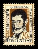 General Manuel Oribe, 2nd constitutional president of Uruguay stock photo