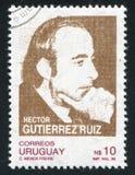 Hector Gutierrez Ruiz. URUGUAY - CIRCA 1987: stamp printed by Uruguay, shows Hector Gutierrez Ruiz, Politician, circa 1987 Stock Photography