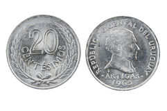 Uruguay coins Stock Images