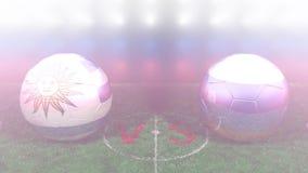 Uruguay contra Rusia, mundial 2018 de la FIFA Vídeo original 3D