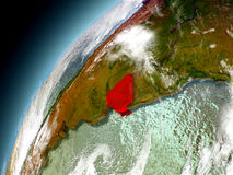 Uruguay de la órbita de Earth modelo Imagen de archivo