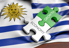 Uruguay economy and financial market growth concept Royalty Free Stock Image