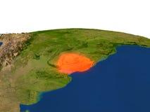 Uruguay en rojo de la órbita libre illustration