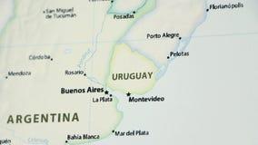 Uruguay en un mapa con Defocus metrajes