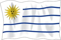 Uruguay flag Stock Photography