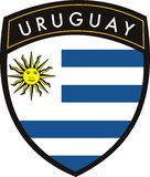 Uruguay flag Royalty Free Stock Photos