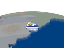 Uruguay with flag Stock Photography