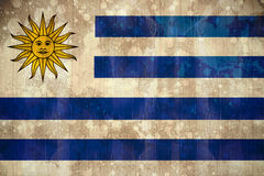 Uruguay flag in grunge effect Stock Images