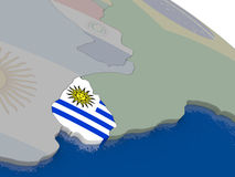 Uruguay with flag Royalty Free Stock Photos