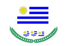 Uruguay-Flaggenvektorillustration Uruguay-Flagge Staatsflagge von Lizenzfreie Stockbilder