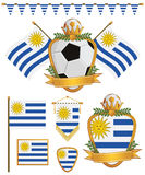 Uruguay flags Royalty Free Stock Images