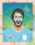 Uruguay football fan. For world cup Royalty Free Stock Image