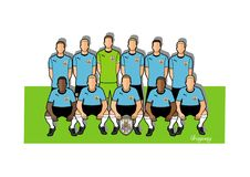 Uruguay football team 2018. Qualified for the 2018 world cup in Russia Royalty Free Stock Photography