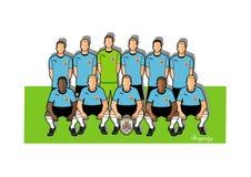Uruguay fotbollslag 2018 Royaltyfri Illustrationer