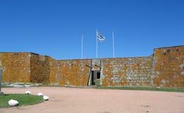 Uruguay, historisch San Miguel Fort, grens Chuy met Brazilië Stock Foto's