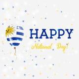 Uruguay National Day patriotic poster. Stock Photos