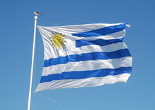 Uruguay national flag Stock Photo