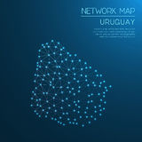 Uruguay network map. Stock Photography