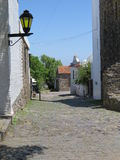 Uruguay. One of the old cobblestone streets in the Uruguayan town of Colonia de Sacramento stock photography