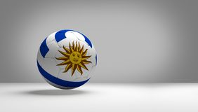Uruguay soccer football ball 3d rendering national flag color de. Sign image Royalty Free Stock Photo