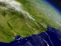 Uruguay from space Stock Images